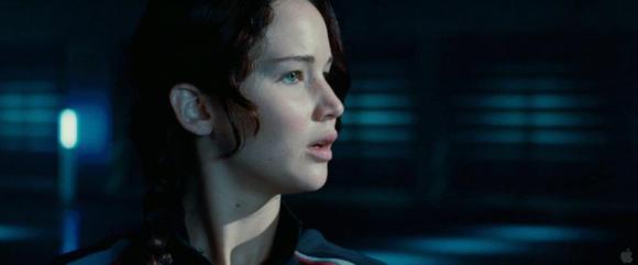 Movie Still: Katniss in a Training Room