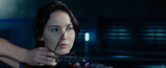 Movie Still: Katniss in The Training Room