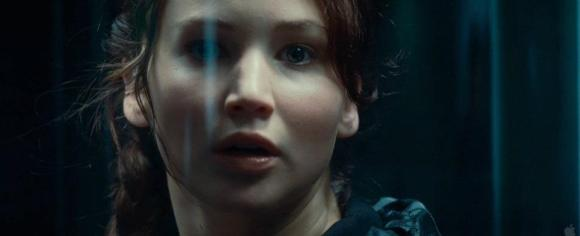 Movie Still: Katniss in The Elevator