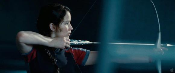 Movie Still: Katnis in The Training Room