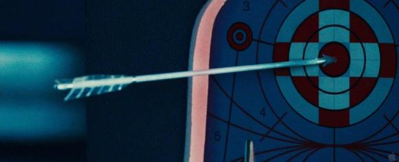 Movie Still: Katniss Hits The Target