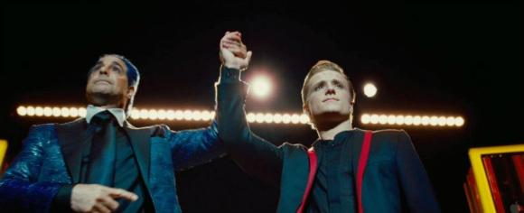Movie Still: Flickerman & Peeta