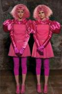 The Capitol People: Twin Girls in Pink