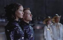 Movie Still: Katniss & Peeta Before The Parade