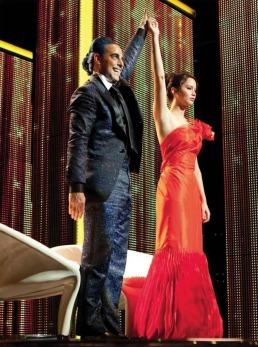 Movie Still: Katniss & Flickerman