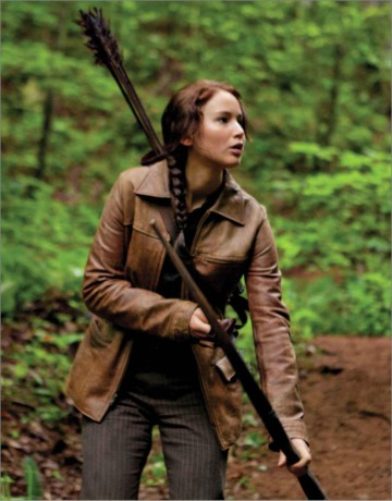 Movie Still: Katniss in Woods