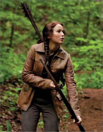 Movie Still: Katniss in Woods
