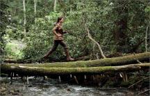 Movie Still: Katniss Running through Woods