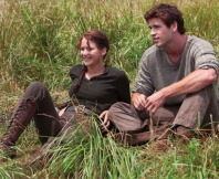 Movie Still: Katniss & Gale in Woods