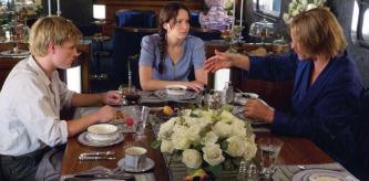 Movie Still: Peeta, Katniss & Haymitch on The Train