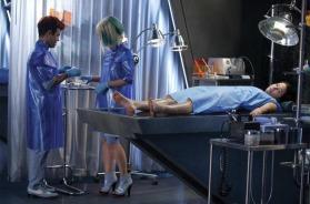 Movie Still: Katniss in a Preparation Room