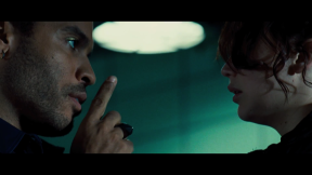 Movie Still: Cinna and Katniss before The Games
