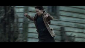Movie Still: Katniss in District 12