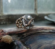 Mockingjay Steampunk Ring