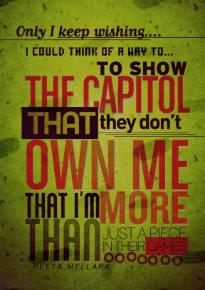Fan Poster: Peeta's Quote