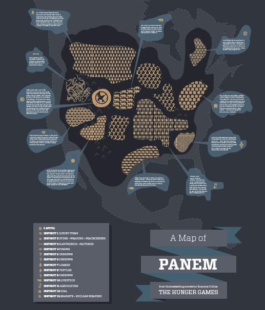 fan made photo map of panem the hunger games