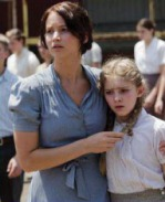 Movie Still: Katniss & Prim at The Reaping