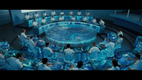 Movie Still: The Gamemakers Control Room