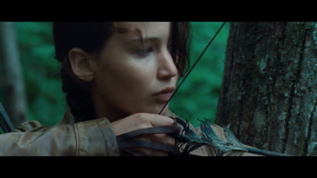 Movie Still: Katniss Preparing to Shoot