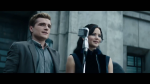 Peeta and Katniss on The Stage in District 11