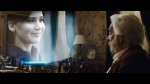 President Snow Watching Katniss on a Hologram